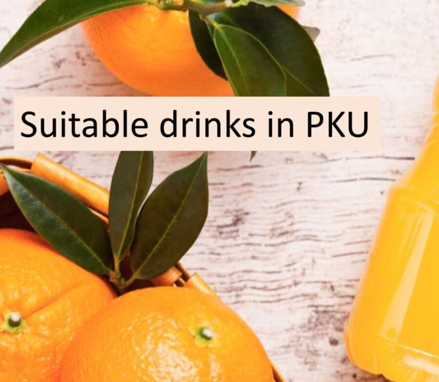 Suitable drinks for people with PKU